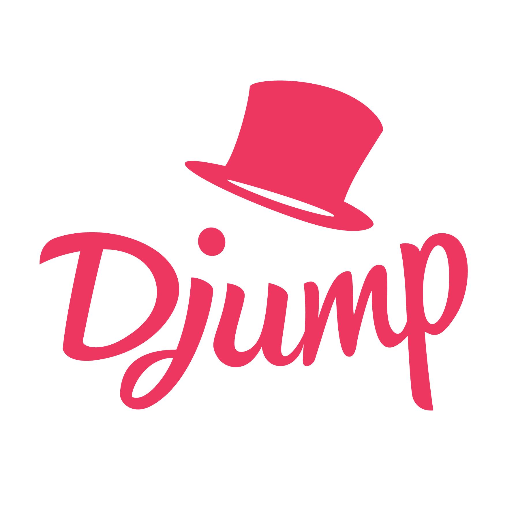 Logo Djump Rose sur blanc Carr%C3%A9 Partners